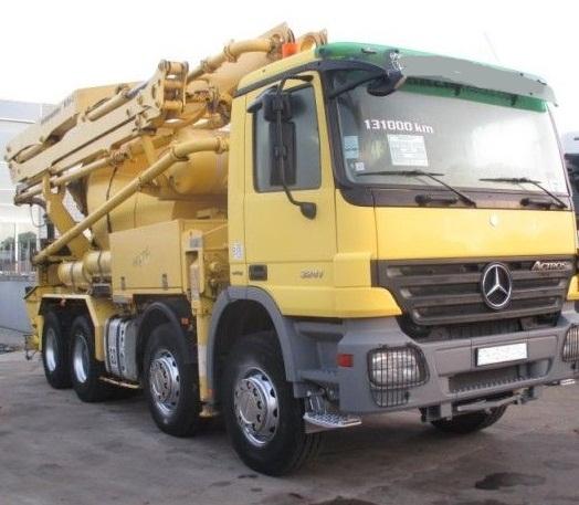 الشركة الدولية للتجارة والخدمات  خلاط مع مضخة  Mercedes  Actros  3241 سنة الصنع 2008